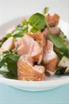Pan-fried Salmon with Watercress and Salsa Verde